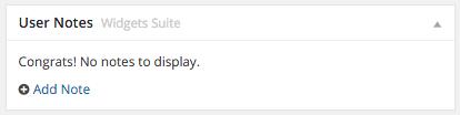 Aquí vemos el widget por defecto