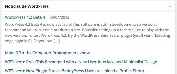 Las noticias de WordPress nos informan de las últimas novedades