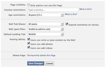 Nuevo panel administración Páginas Facebook