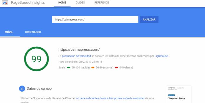 PageSpeed móvil