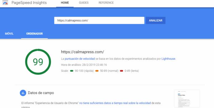 PageSpeed ordenador
