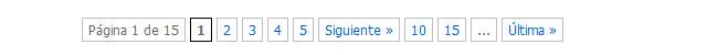 Barra de paginación, útil para los rastreadores y los usuarios