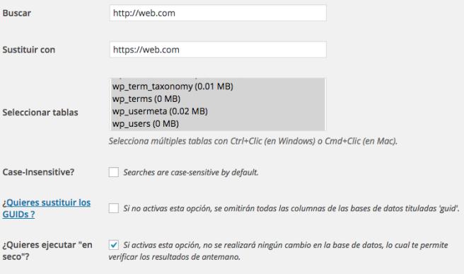 Buscamos URLs en http y las pasamos a https