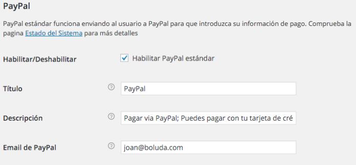Pasarela de PayPal con WooCommerce