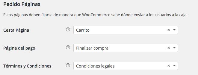 Páginas de pedido en WooCommerce