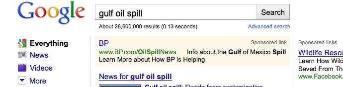 Campaña de PPC de BP para gestionar su reputación online