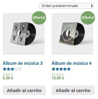 Productos en oferta en WooCommerce