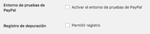 Opciones para desarrolladores