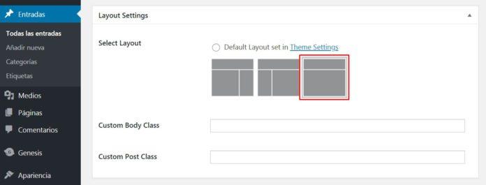 Desactivar sidebars en una página o entrada concreta