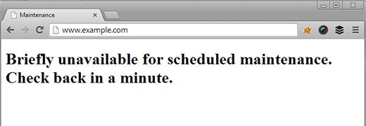 Error de WordPress temporalmente no disponible