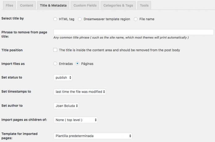 Pasar una web de HTML a WordPress - Boluda.com