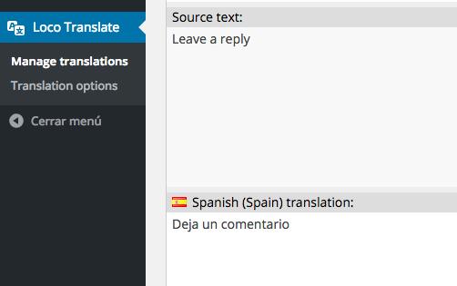 Simplemente introducimos la nueva traducción
