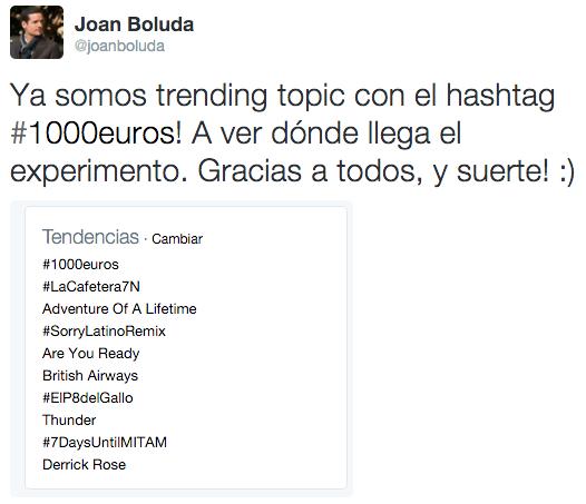Trending Topic #1000euros