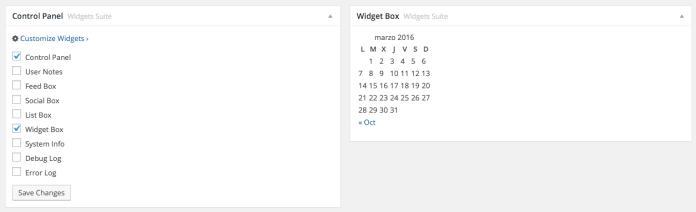 Podemos colocar cualquier widget en este widget de escritorio