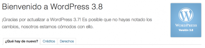 WordPress 3.6 a 3.8